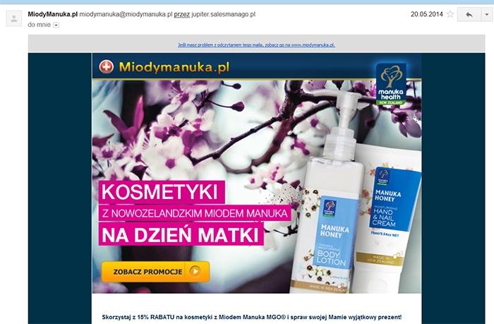 Newsletter miodymanuka.pl